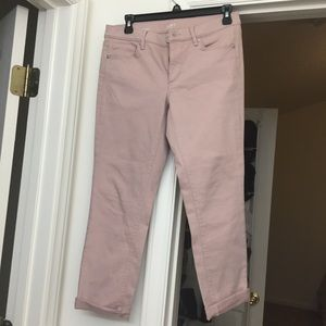 Loft Denim Cuffed Crop pants